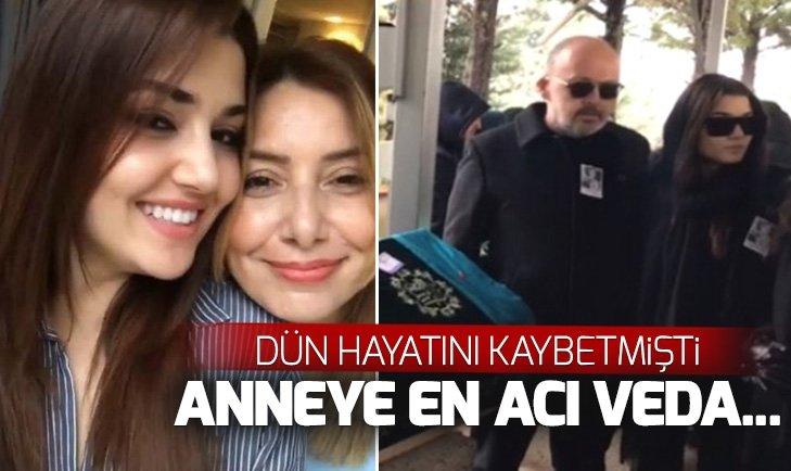 HANDE ERÇEL'İN ANNESİ AYLİN ERÇEL SON YOLCULUĞUNA UĞURLANDI