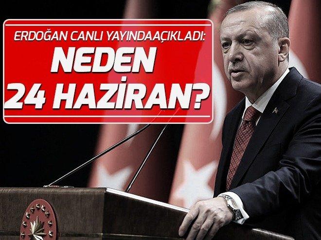 Cumhurbaşkanı Erdoğan'dan seçim tarihiyle ilgili açıklama