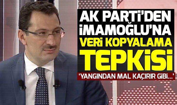 AK Parti'den Ekrem İmamoğlu'na veri kopyalama tepkisi