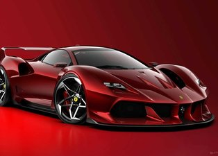 Ferrari'nin efsane modeli F40'a modern tasarım