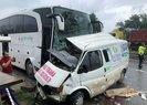 Ordu Fatsa'da yolcu otobüsü ile minibüs çarpıştı! Ölü ve yaralılar var  Video