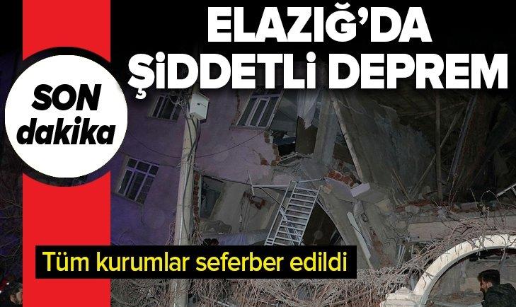 Son dakika: Elazığ'da 6.8 büyüklüğünde deprem