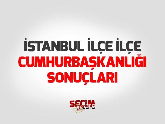 İstanbul ilçe ilçe Cumhurbaşkanlığı seçim sonuçları!