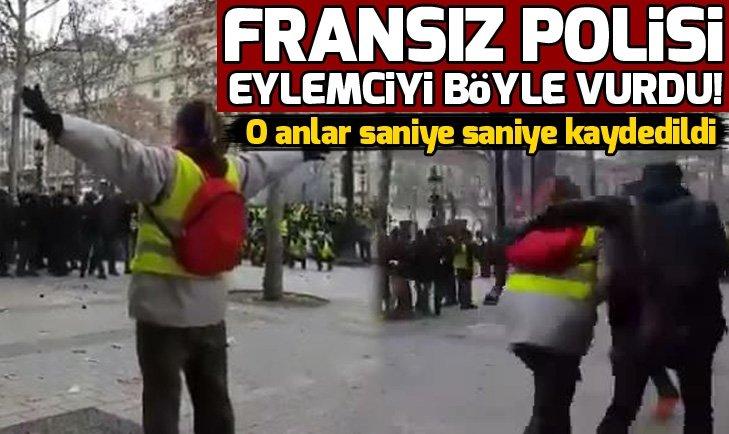 FRANSA'DA POLİS GÖSTERİCİYİ KARNINDAN VURDU!