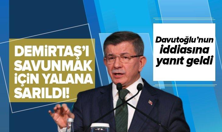 DAVUTOĞLU'NUN İDDİASINA YANIT GELDİ