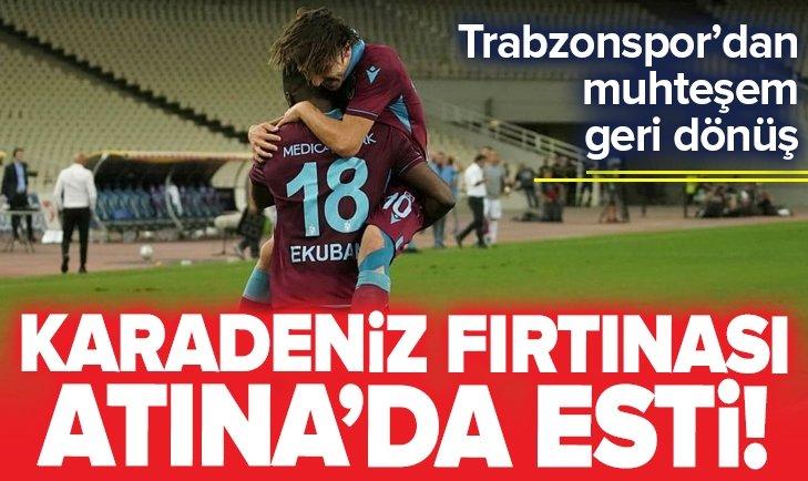 TRABZONSPOR, AEK'YI 3 GOLLE DEVİRDİ!