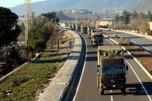 Gaziantep'ten Suriye'ye doğru yola çıktılar