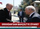 Son dakika: Başkan Erdoğan - Bahçeli görüşmesinden ilk görüntüler