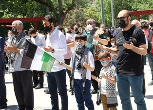 Son dakika | Türkiye Filistin için tek yürek oldu! Eller semaya Mescid-i Aksa için kalktı