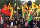 Köln'de skandal görüntü! PKK'lılar YPG flamaları ile eylem yaptı