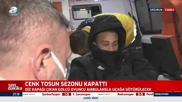 Cenk Tosun ambulansla uçağa götürüldü