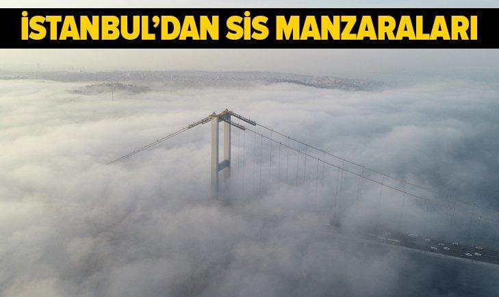 İSTANBUL'DAKİ SİSTEN YANSIYAN ENFES MANZARA GÖRÜNTÜLERİ