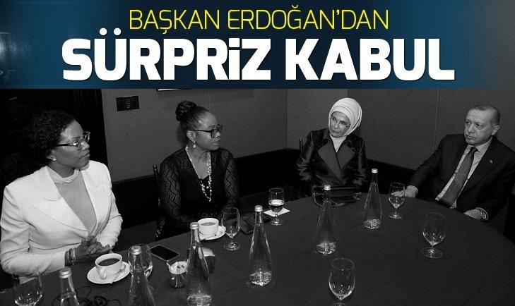 Erdoğan, Malcolm X'in kızlarını kabul etti