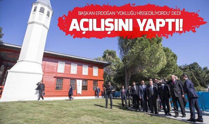 Cumhurbaşkanı Erdoğan, 'Çanakkale Şehitler Abidesi Camisi'nin açılışına katıldı