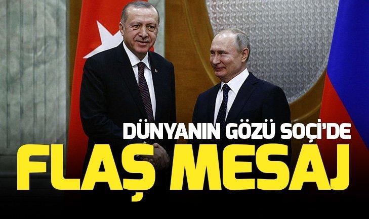 BAŞKAN ERDOĞAN İLE RUS LİDER PUTİN GÖRÜŞTÜ