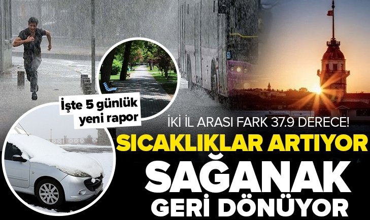 Sıcaklıklar artacak ama sağanak yağış sürecek! İstanbul Ankara ve İzmir'de hava durumu nasıl olacak? 5 günlük son dakika hava durumu açıklaması