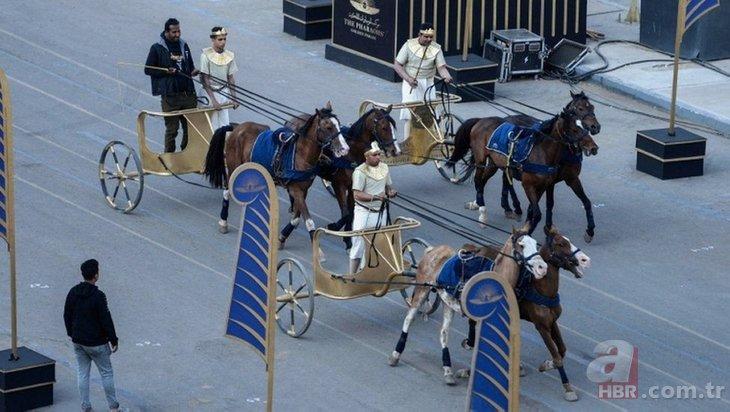 Dünyanın gözü bu törendeydi! 18 kral 4 kraliçe böyle taşındı