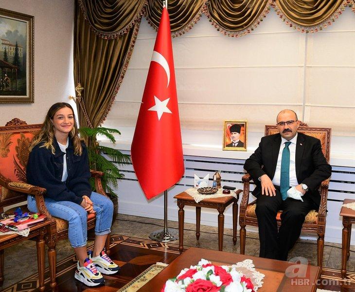 Tokyo'da gümüş madalya kazanan Buse Naz Çakıroğlu'ndan Trabzon'a özel ziyaret!