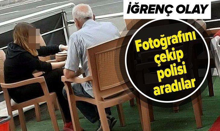 İĞRENÇ OLAY! FOTOĞRAFINI ÇEKİP POLİSİ ARADILAR