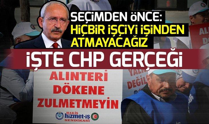 CHP'li başkanların ilk icraatı işçi çıkarmak oldu!