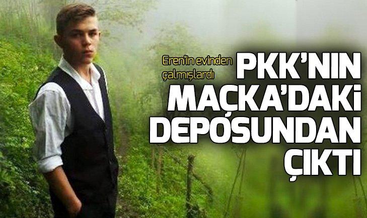 Eren Bülbülün evinden çalınan erzak PKK sığınağından çıktı!