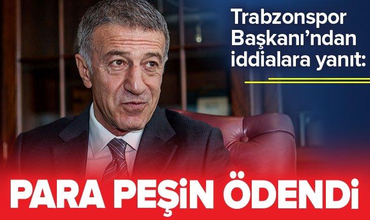 TRABZONSPOR BAŞKANI'NDAN STURRİDGE İDDİALARINA YANIT