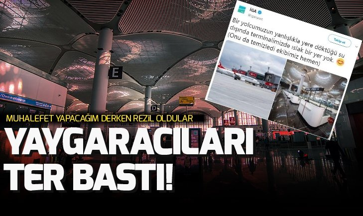 'İstanbul Havalimanı'nı su bastı' diyenlere esprili cevap