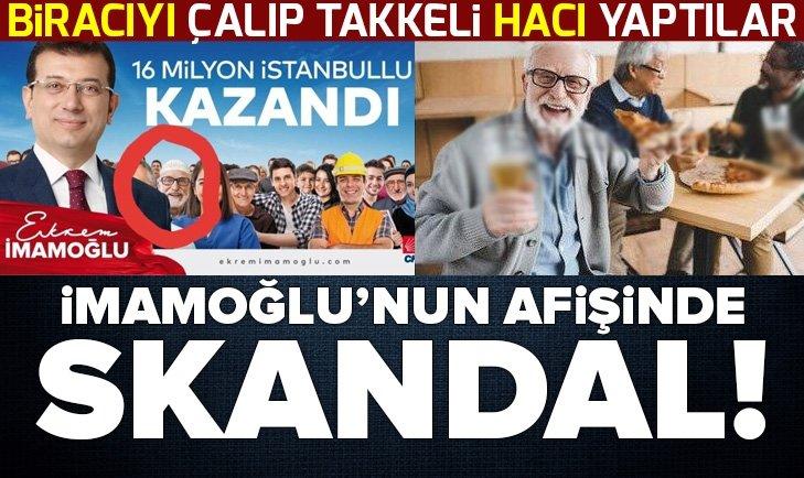 Ekrem İmamoğlu'nun afişindeki skandal ortaya çıktı