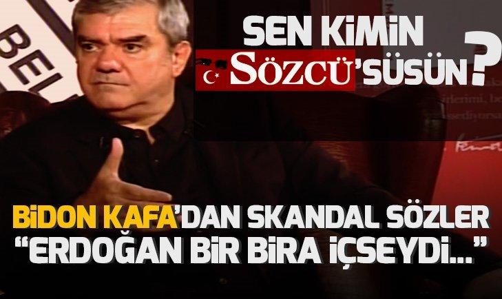 Bidon kafa Yılmaz Özdil canlı yayında haddini aştı! Erdoğan bir bira içmiş olsaydı...