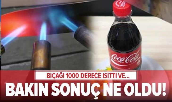 BIÇAĞI 1000 DERECE ISITTI VE...