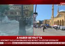 Beyrutta protestocular caddeleri ateşe verdi