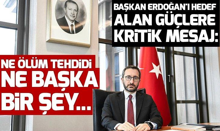 NE ÖLÜM TEHDİDİ NE BAŞKA BİR ŞEY BAŞKAN ERDOĞAN'I...