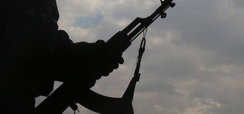 TEL ABYAD'DA PKK ELEBAŞLARINA DESTEK GÖSTERİSİ