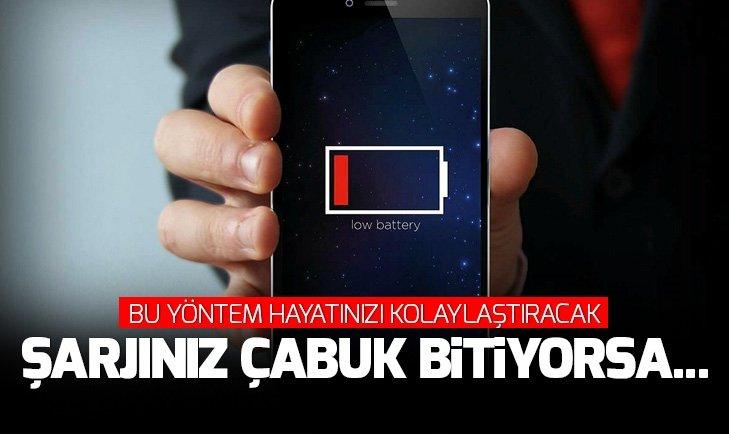 TELEFONUNUZUN ŞARJININ ÇABUK BİTMEMESİ İÇİN BU YÖNTEMLERİ KULLANIN...
