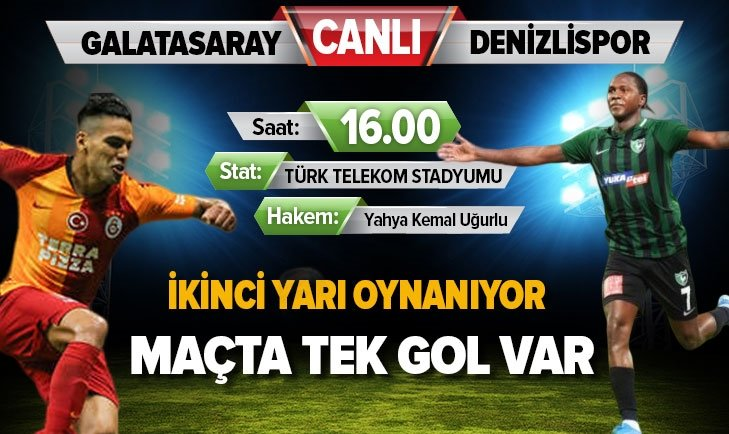GALATASARAY'IN DENİZLİSPOR |CANLI