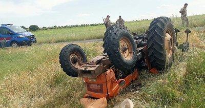 Devrilen traktörün altında kalan gencin acı sonu