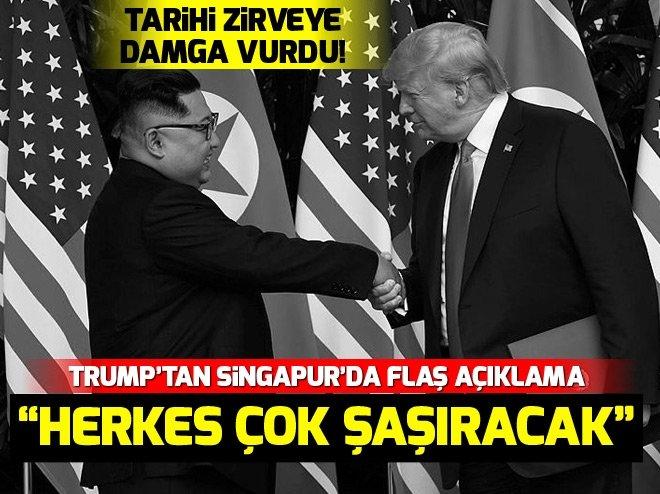 Trump ve Kim'den Singapur'da tarihi imza! Trump'tan flaş açıklamalar...