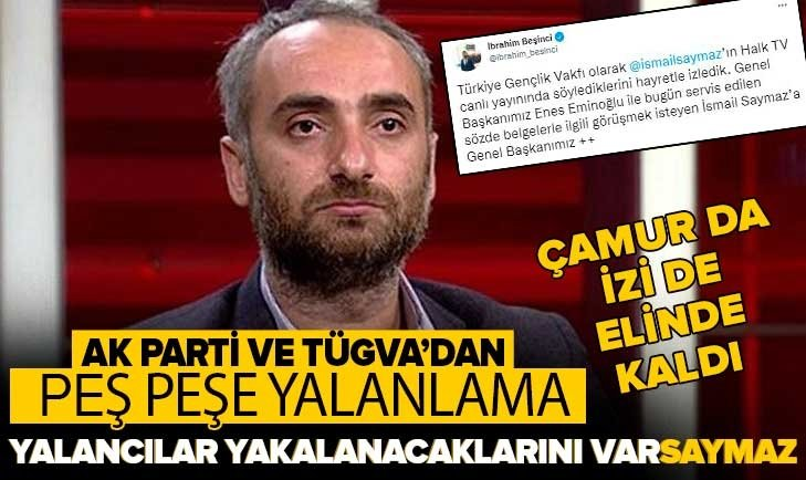 AK Parti ve TÜGVA'dan İsmail Saymaz'ın Halk TV'deki yalanlarına sert tepki