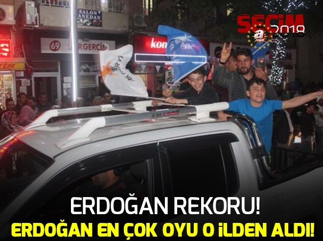 Bayburt'ta Cumhurbaşkanı Erdoğan'a rekor oy sevinci