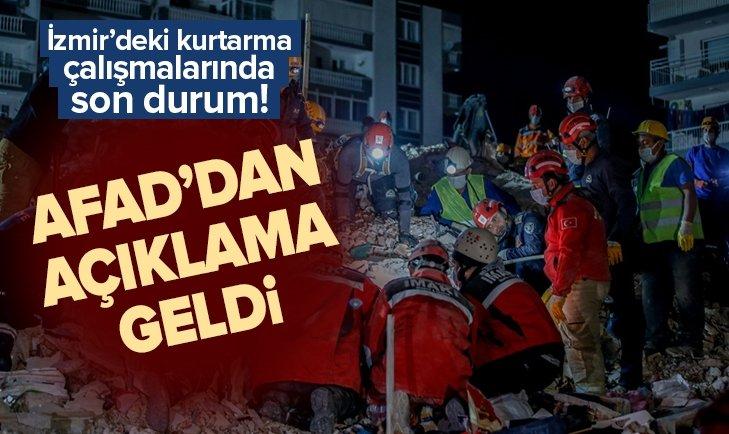 AFAD'dan İzmir depremiyle ilgili ilk rapor!