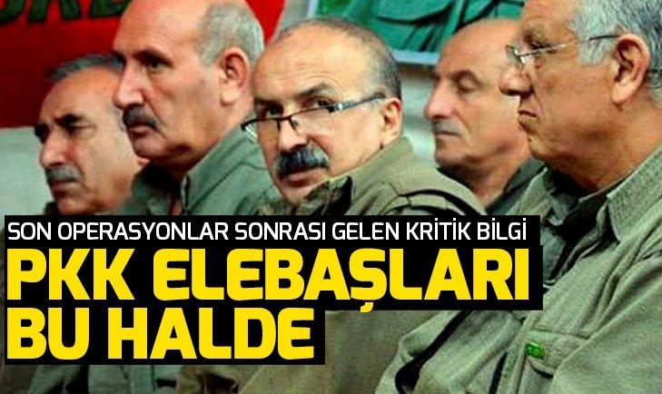 PKK'DA BÜYÜK ÇÖZÜLME! İŞTE PKK ELEBAŞLARININ GELDİKLERİ DURUM