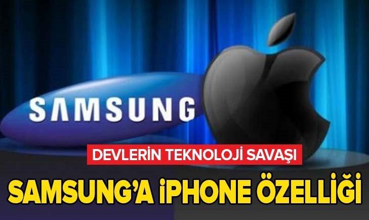 DEVLERİN TEKNOLOJİ SAVAŞI! SAMSUNG'DAN İPHONE ÖZELLİĞİ...