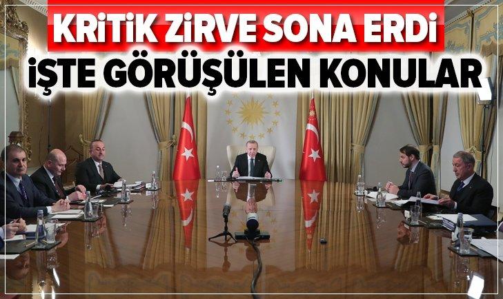 Başkan Erdoğan, Macron, Merkel ve Johnson'la görüştü