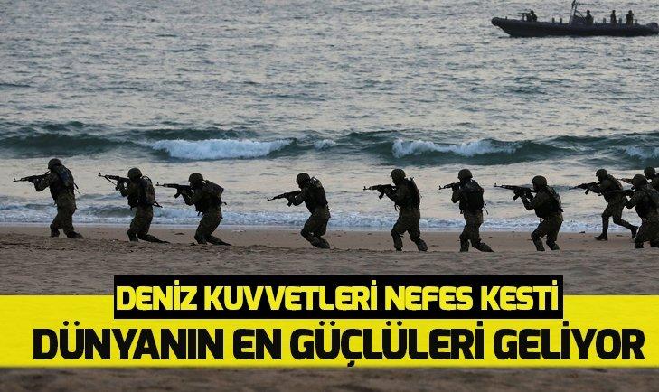 DENİZ KUVVETLERİNDEN NEFES KESEN TATBİKAT!
