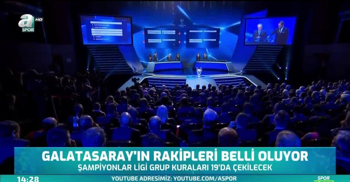Galatasaray'ın Şampiyonlar Ligi'ndeki rakipleri belli oluyor! Kura çekimi  hangi kanalda?  Video