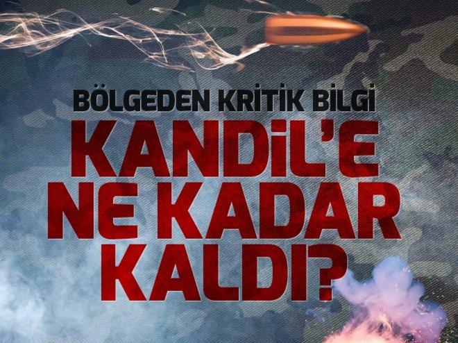 KANDİL'E 39 KİLOMETRE KALDI