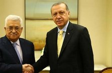 Cumhurbaşkanı Erdoğan Mahmud Abbas ile görüştü