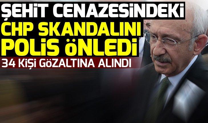 Ankara'daki şehit cenazesinde 34 gözaltı