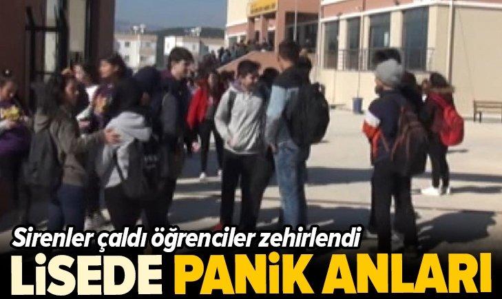 LİSEDE PANİK! SİRENLER ÇALDI, 17 ÖĞRENCİ ZEHİRLENDİ