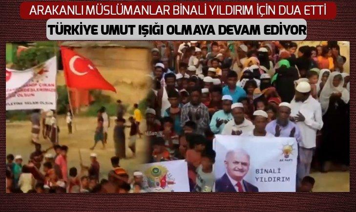 Arakanlı müslümanlar Binali Yıldırım için dua etti